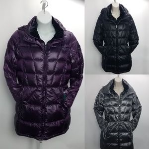 Andrew Marc Packable Down Jacket Light L XL Gray